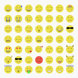 Satz Emoji, Avatara und Emoticons Lizenzfreie Stockfotos