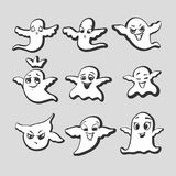 Satz emotionale Geister Stockfotografie