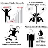 Satz englische Sprichwörter Stockfotografie