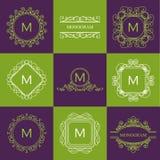 Satz Entwurfsmonogramme und Logo entwerfen Schablonen Lizenzfreie Stockfotografie