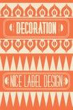 Satz Entwurfsrahmen, -embleme und -ausweise Abstrakte Hippie-Logoschablonen Monolinie Grafikdesignschablonen Lizenzfreies Stockfoto