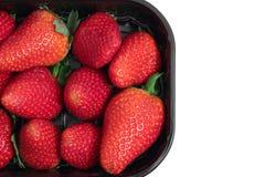 Satz Erdbeeren Stockbilder