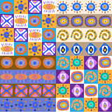 Satz ethnische Muster nett Stockfotos