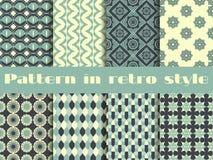 Satz ethnische nahtlose Muster Das Muster für Tapete, Fliesen, Gewebe und Designe Stockfotos