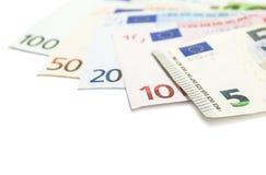 Satz Eurobanknoten Lizenzfreies Stockfoto