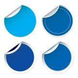 Satz für blaue Aufkleber Lizenzfreie Stockfotos