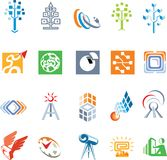 Satz für logomakers stockbilder