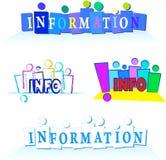 Satz Fahnen mit Informationen Lizenzfreies Stockbild