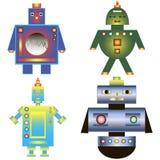 Satz Farbbilder des Roboters Ikonenroboter Roboterspiele Stockfoto