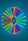 Satz Farbe zeichnet pallete Stockfotos