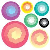 Satz farbenreiche Papierspirale für Designgeschäfts-Karte Stockbilder