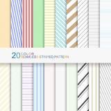 Satz Farbgestreifte Muster, nahtlose Vektorhintergründe für Ihr Design Lizenzfreie Stockfotografie