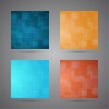 Satz farbige abstrakte Hintergründe mit dem Glühen zeichnet. Stockbild