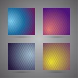 Satz farbige abstrakte Hintergründe mit Dreiecken Lizenzfreies Stockbild
