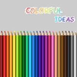Satz farbige Bleistifte 24 Stockbild