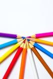 Satz farbige Bleistifte Stockfoto