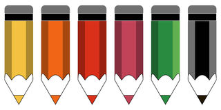 Satz farbige Bleistifte Lizenzfreies Stockbild