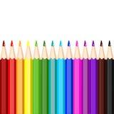 Satz farbige Bleistifte, Illustration stock abbildung