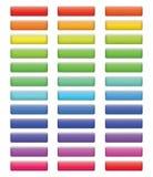 Satz farbige Knöpfe für Webdesign Lizenzfreie Stockbilder