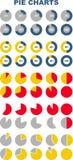 Satz farbige Kreisdiagramme Infographic Elemente Lizenzfreie Stockbilder
