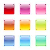 Satz farbige Netzikonen. Stockbild