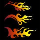 Satz farbige Stammes- Flammen Stockbild