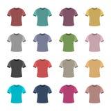 Satz farbige T-Shirts, Vektorillustration Lizenzfreies Stockfoto