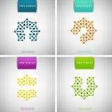 Satz farbige Technologiemuster Stockbilder
