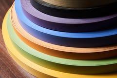 Satz farbige thermoplastische Ränder Stockbilder