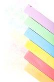 Satz farbige Zeichenstifte Stockfoto