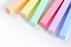 Satz farbige Zeichenstifte Stockbilder