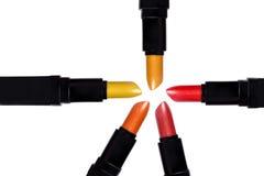 Satz Farblippenstifte, die einen Kreis bilden Lizenzfreie Stockfotografie
