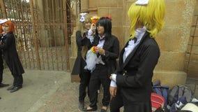 Satz Farbvektorillustrationen in der Art des japanischen Anime stock video footage