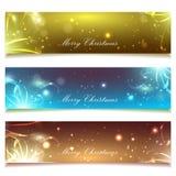 Satz Feiertagsfahnen, Weihnachten Lizenzfreie Stockbilder