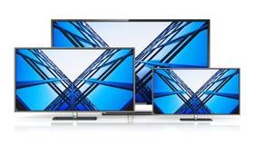 Satz Fernsehanzeigen mit großem Bildschirm Lizenzfreie Stockbilder
