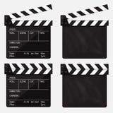 Satz Film clapperboard leeres Film clapperboard Vektor Lizenzfreie Stockbilder
