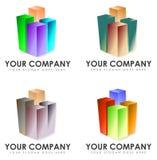 Satz Firmenzeichen Lizenzfreie Stockfotos