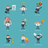 Satz flache Art-Ikonen für Geschäft Stockbilder
