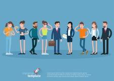 Satz flache Designvektor-Leutecharaktere Stockfotos