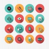 Satz flache Webdesignikonen Stockfotos