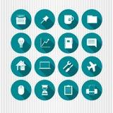 Satz flache Webdesignikonen Stockfoto