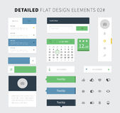 Satz flacher Design ui Ausrüstung für webdesign Stockbild