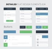 Satz flacher Design ui Ausrüstung für webdesign Lizenzfreies Stockfoto