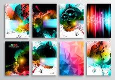 Satz Flieger-Design, Netz-Schablonen Broschüren-Designe Lizenzfreies Stockfoto
