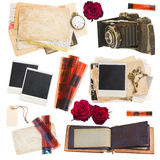 Satz Foto collectibles Stockbild