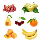 Satz Früchte Lizenzfreies Stockbild