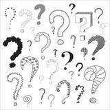 Satz Fragezeichen Lizenzfreies Stockfoto