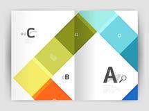 Satz Front und hintere Seiten der Größe a4, Geschäftsjahresbericht-Designschablonen Stockfoto
