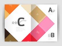 Satz Front und hintere Seiten der Größe a4, Geschäftsjahresbericht-Designschablonen Stockbild