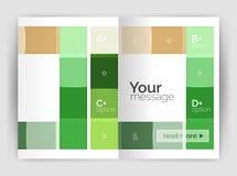 Satz Front und hintere Seiten der Größe a4, Geschäftsjahresbericht-Designschablonen Lizenzfreies Stockfoto